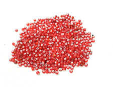 Beads African Bright Red White Heart Glass Beads 5-6mm