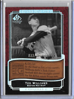 Ted Williams 2003 Upper Deck Etched In Time Etched in Wood 33 of 175 Limited