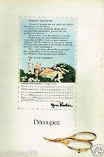Publicité advertising 1972 Cosmétique crème Yves Rocher
