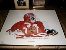 "ALABAMA CRIMSON TIDE FOOTBALL 1979 LTD. EDT. PRINT BY STEVE FORD-S&N-18"" x 26"""