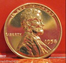 1958 Lincoln Wheat Cent  Proof