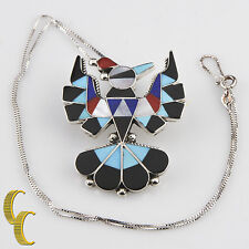 and Earring Set w/ Box Chain Native American Semi-Precious Inlay Eagle Necklace
