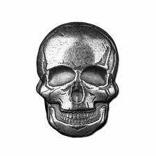 2 oz Monarch Silver Human Skull .999 Ag Art Bar Round - IN-STOCK!!