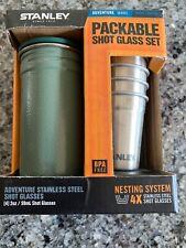 NEW Stanley Adventure SS Shot Glass Set Hammertone Green