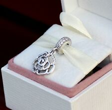 NEW!AUTHENTIC PANDORA CHARM SHIMMERING ROSE DANGLE 791526CZ  *SPECIAL*