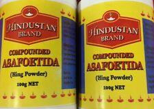 2 X Hindustan Brand Asafoetida Yellow Hing Powder 100g - High Quality