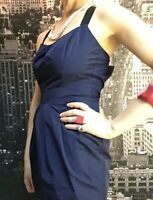 Cue Dress, Size 8, Dark Blue, Fit & Flare, Short, Lining
