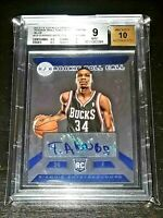 2013-14 Totally Certified GIANNIS ANTETOKOUNMPO Blue RC AUTO /49 BGS 9/10! 2xMVP