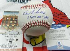 Tom Henke autographed Rawlings MLB Baseball w/2x All Star-Beckett Authentication