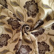 7 Metres Prestigious Textiles 'Shakespeare' Floral Trail Curtain Fabric In Olive