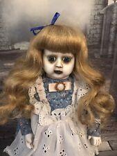 """Ragdoll Retro Ooak Creepy Horror Doll  16"""" 41cm Alice In Wonder Land Moody"""