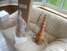 John Lewis  Wood Wooden Table Lamp x 2