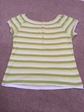 Green Striped Top Size M