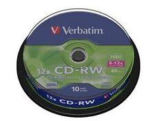 50 Verbatim Rohlinge CD-RW 700MB 80Min 12x Spindel