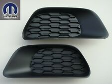 DODGE GRAND CARAVAN 2011-2013 FRONT BUMPER INSERT FOG LIGHT LAMP HOLE COVERS SET