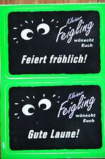 """Kleiner Feigling 14 x 10,5cm Aufkleber, Sticker """"feiert fröhlich"""" - NEUWARE !!!"""