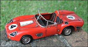 Handmade 1959 Red FERRARI 250 TESTA ROSSA TR60 1:12 Car Model - Wheels Moveable