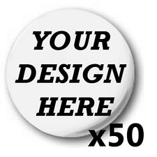 50x Custom, 'Design Your Own' 1 inch / 25mm Button Badges, Novelty Fun, Birthday