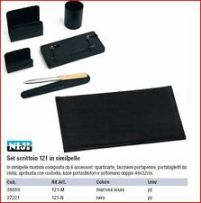 SET SCRIVANIA SCRITTOIO NIJI 121 IN SEMILPELLE COLOR MARRONE O NERO