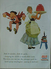 1955 Jell-O Gelatin Jack be Nimble Jack be Quick Boys~Girls Nursery Rhyme AD