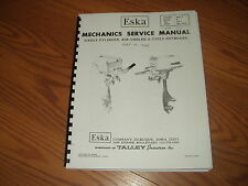 ESKA/SEARS OUTBOARD REPAIR MANUAL 3.0- 7.5hp-69- 1976- through 1985~116 PG
