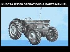 Kubota M5500 Tractor Operation Parts Manuals 240pg for M 5500 Dt Repair Service