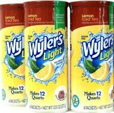 3 Packs Wyler's 1.33 Oz Light Lemon Iced Tea Sugar Free 6 Count Pitcher Packets