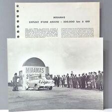 ✇ SIMCA ARIANE Rekordfahrt 1961 original Grossfoto mit Textbeilage Frankreich