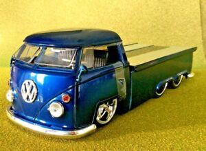 JADA 1/24 V DUBS BLUE 1963 VOLKSWAGEN PICK UP W/ SLIDING BED # 91168 F/S RARE !