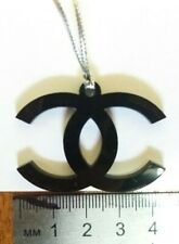 VIP Chanel logo with pendant black color new plastic keychain