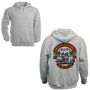 Biker Motorrad Sweatshirt Kapuzenpullove classic Harley-Motiv Hoodie *4282 grau
