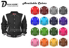 Men's Varsity Jackets Collard Wool Blend Letterman Real Leather Varsity Jackets