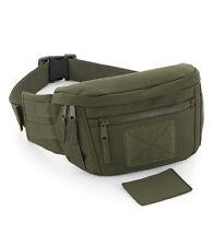 Militar Verde o Negro Cinturón Monedero Riñonera Uso Riñonera