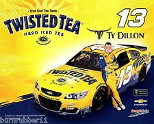 """2017 TY DILLON """"TWISTED TEA"""" #13 NASCAR MONSTER ENERGY CUP POSTCARD"""