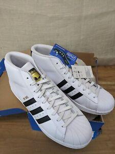 Adidas Originals Pro Model Men's 9.5 White Black Shell Toe Sneakers Shoes S85956