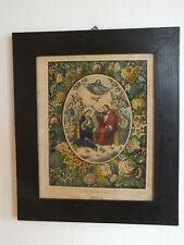 Biedermeier marco-asunción coronación-colorierte litografía