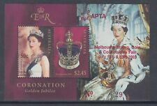 2003 CORONATION Stamp Show numbered overprint on miniature sheet, MNH