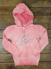 NWT Girls Miami Beach Hoodie Jacket Full Zip Size Youth Medium Distressed (Q1)
