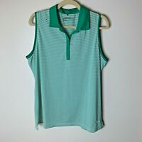 Nike Golf Women's Sleeveless Top Size XXL Green White Stripes Casual