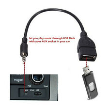3.5mm Car AUX Converter Male Audio Jack to USB 2.0 Type A Female Adapter Cable