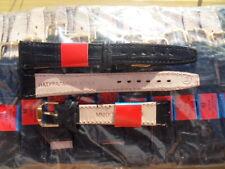 Brand New 18mm Black Leather Wrist Watch Band,10 Pcs