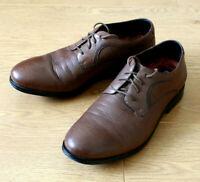 Rockport Men's Derby Lace up Brown Leather Shoes Size UK 6.5 EU 40