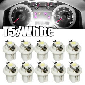 10x White T5 B8 5050 1SMD LED Car Dashboard Dash Gauge Instrument Light Bulbs
