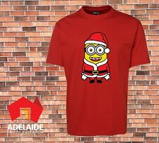 JB's Funny Cool T-shirt Santa Minion In Adult & Childrens Kids Sizes Christmas