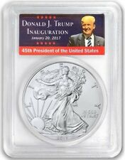 2018 $1 Silver Eagle PCGS MS70 FIRST STRIKE Donald Trump Label Low Pop 150!