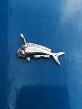 NEW STERLING SILVER NAUTICAL DORADO DOLPHIN PENDANT MARINE SEALIFE FISH JEWELRY