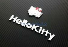 T Car Truck Decor 3D Decal Emblem 3M Metal Sticker Cute Hello Kitty tR60