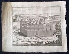 Israël charpente de l 'Arche de Noé estampe sur cuivre  XVIIIe YISRA'EL, ISRA'IL