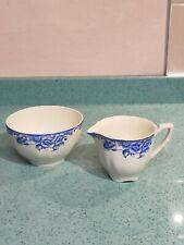 More details for the liverpool pottery burslem, alfred meakin porcelain cream jug & bowl,rare