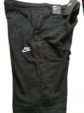 Nike Jersey Club Sweat Jogger Shorts Black Cotton Size Medium 804419 010